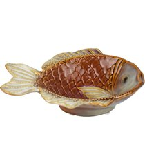 petisqueira peixe de cerâmica kasa ideia