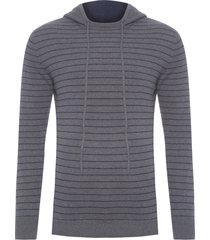 blusa masculina tricot - cinza