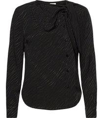 madison blouse blouse lange mouwen zwart twist & tango