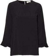 silo top blouse lange mouwen zwart modström