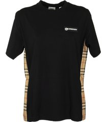 burberry vintage check panel cotton oversized t-shirt carrick