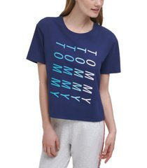 tommy hilfiger cropped graphic t-shirt