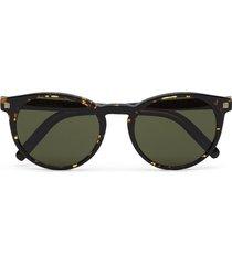 ermenegildo zegna round-frame sunglasses - brown