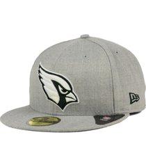 new era arizona cardinals heather black white 59fifty fitted cap