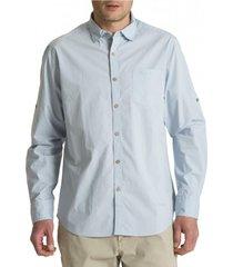 camisa algodón organico galiton celeste rockford