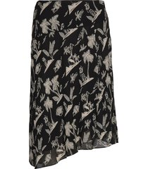 viscose printed asymmetric skirt knälång kjol multi/mönstrad scotch & soda