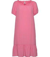 sc-pelican knälång klänning rosa soyaconcept
