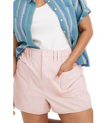 women's madewell baggy pull-on shorts, size x-large - pink