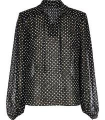 blouse nop flockprint