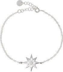 bracciale stella in argento 925 rodiato e glitter per donna