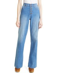 veronica beard button fly wide leg jeans, size 29 in astra at nordstrom