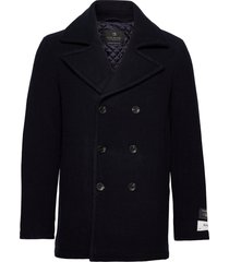 classic wool-blend peacoat with quilted lining ulljacka jacka blå scotch & soda