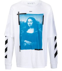 blue mona lisa double sleeve t-shirt