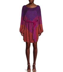 retrofête women's grace colorblock sweater dress - deep dye - size xs