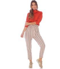 pantalón baggy a rayas para mujer 100616-01