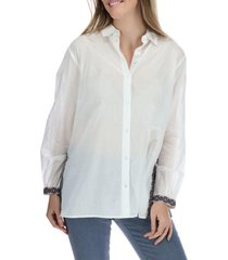 blusa manga larga mujer amalia blanco rockford