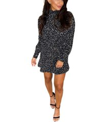ax paris spotty high neck skater dress