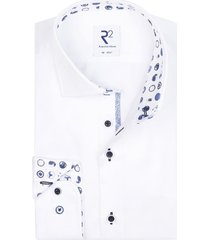 r2 shirt wit fine twill print in boord