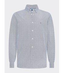 camisa estampada con acabado suave azul tommy hilfiger