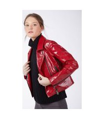 jaqueta perfecto croco vermelho - 42