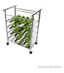 mind reader 4 tier layered wine bottle mobile cart