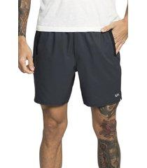 men's rvca yogger stretch shorts, size xx-large - blue
