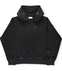 moncler logo hoodie