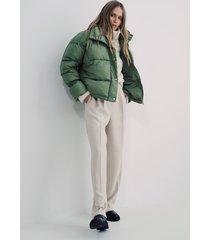 na-kd trend vadderad jacka med elastisk detalj - green