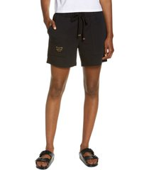 laila ali patch pocket shorts, size large in tap shoe black at nordstrom