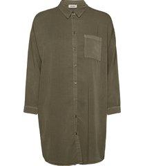 evelyn shirt långärmad skjorta grön modström
