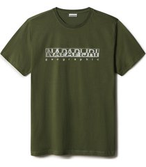 napapijri t-shirt sallar olijf rf np0a4f9o/g2c