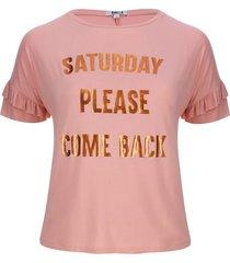camiseta saturday color rosado, talla 16