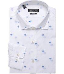 modern trim-fit sketched heart dress shirt