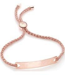 havana friendship bracelet- rose gold, rose gold vermeil on silver