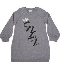 lanvin logo print sweatshirt dress