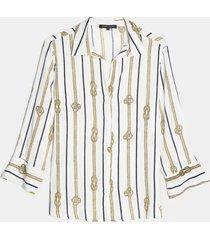 camisa blanco-dorado-negro seven seven