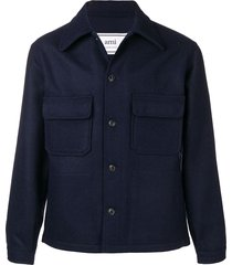 ami relaxed fit jacket - blue