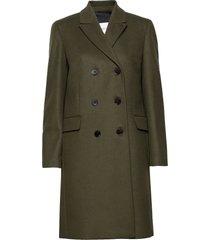 double breasted cashmere crombie wollen jas lange jas groen calvin klein