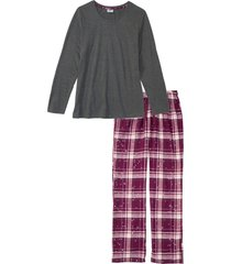 pigiama con pantaloni in flanella (grigio) - bpc bonprix collection