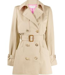 alexander mcqueen short trench coat - neutrals
