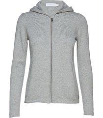 w race knitted zip hood hoodie trui grijs sail racing