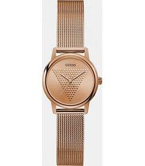 analogowy zegarek z trójkątnym logo