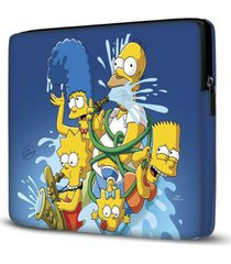 capa para notebook simpsons azul 15 polegadas - unissex