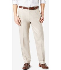 dockers men's signature lux cotton relaxed fit creased stretch khaki pants