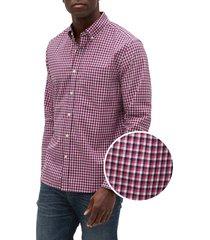camisa fucsia-blanco-negro gap