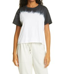 women's atm anthony thomas melillo tie dye classic boyfriend t-shirt, size medium - white