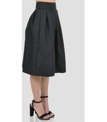 falda plisada de mujer exotik ew173-1115-794 negro