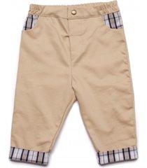 spodnie casual z dodatkiem kraty