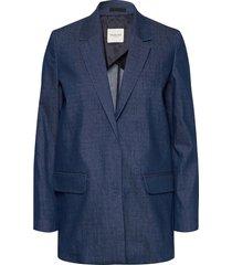 slfjeanne denim blazer w blazer colbert blauw selected femme