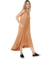 vestido  camel al aniz vanesa